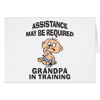 New Grandpa In Training Card