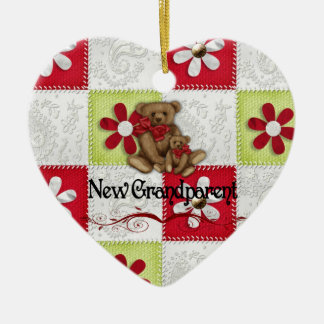 New Grandparents Christmas Ceramic Ornament
