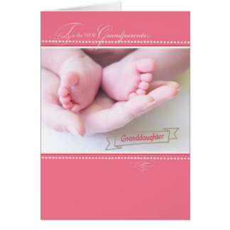 New Grandparents, First Granddaughter Greeting Card