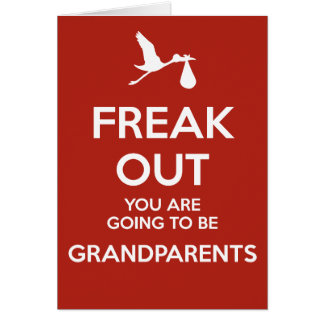 New Grandparents Pregnancy Announcement Greeting Cards