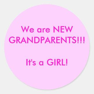 New Grandparents Round Sticker
