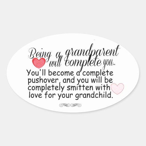New Grandparents Oval Sticker