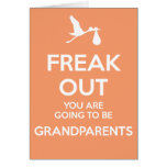 New Grandparents To Be Pregnancy Announcement Card