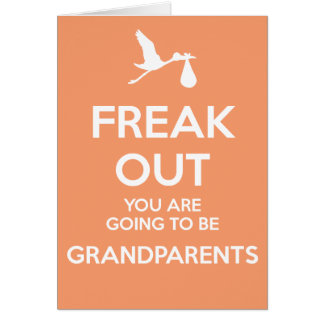 New Grandparents To Be Pregnancy Announcement Greeting Card
