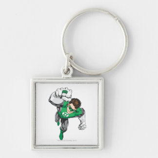 New Green Lantern 6 Silver-Colored Square Key Ring