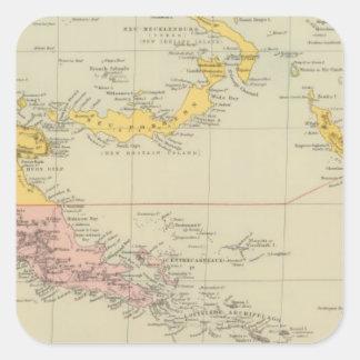 New Guinea and Solomon Islands Square Sticker
