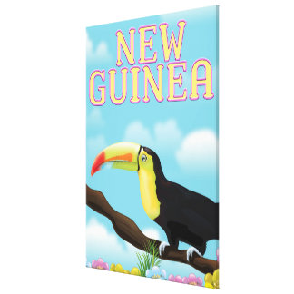 New Guinea Toucan travel poster Canvas Print