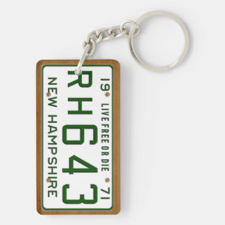 New Hampshire 1971 Vintage License Plate Keychain