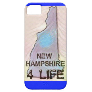 """New Hampshire 4 Life"" State Map Pride Design Case For The iPhone 5"