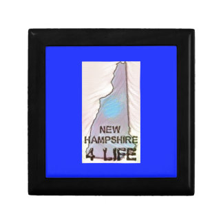 """New Hampshire 4 Life"" State Map Pride Design Gift Box"