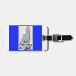 """New Hampshire 4 Life"" State Map Pride Design Luggage Tag"