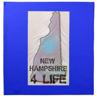 """New Hampshire 4 Life"" State Map Pride Design Napkin"
