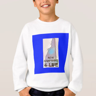 """New Hampshire 4 Life"" State Map Pride Design Sweatshirt"