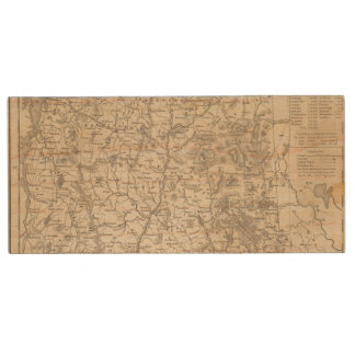 New Hampshire and Vermont Wood USB 2.0 Flash Drive