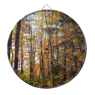 New Hampshire Autumn Forest Dartboard