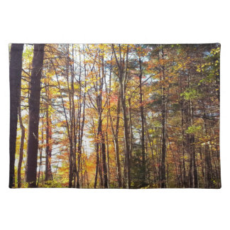 New Hampshire Autumn Forest Placemat