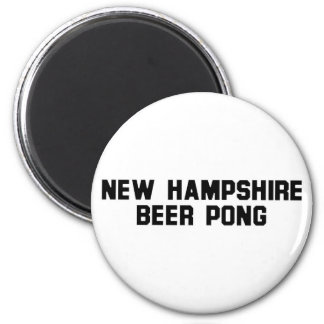 New Hampshire Beer Pong Fridge Magnet