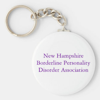 New Hampshire Borderline Personality Disorder A... Basic Round Button Key Ring