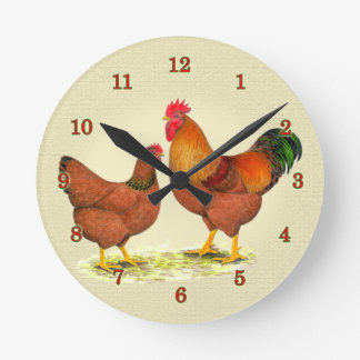 New Hampshire Chickens Clock