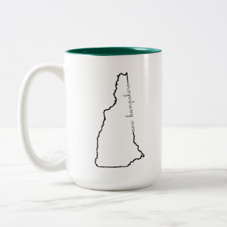 New Hampshire coffee Two-Tone Coffee Mug