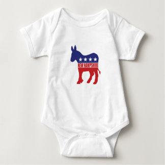 New Hampshire Democrat Donkey Baby Bodysuit