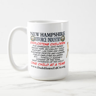 New Hampshire Divorce Industry. Basic White Mug