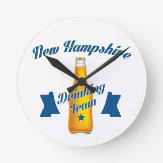 New Hampshire Drinking team Round Clock
