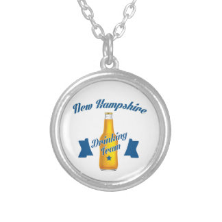New Hampshire Drinking team Silver Plated Necklace