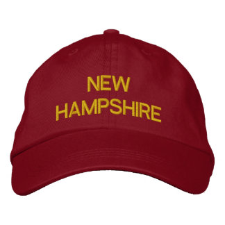 NEW HAMPSHIRE EMBROIDERED HATS