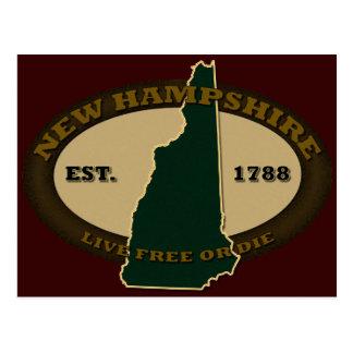 New Hampshire Est 1788 Postcard