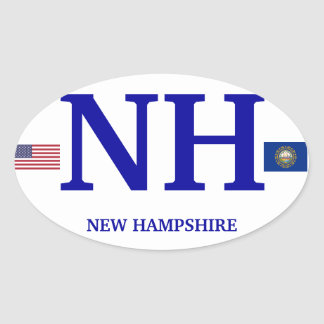 New Hampshire* European Oval Sticker