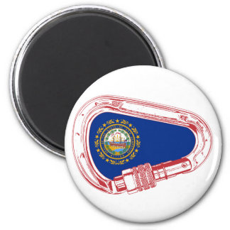 New Hampshire Flag Climbing Carabiner 6 Cm Round Magnet