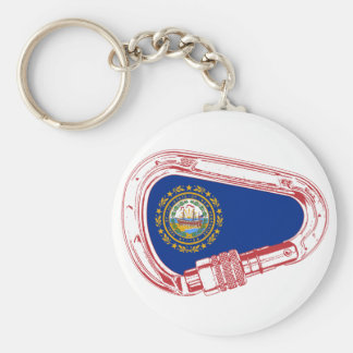 New Hampshire Flag Climbing Carabiner Key Ring