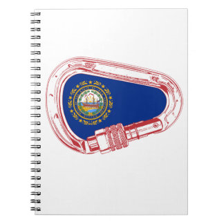 New Hampshire Flag Climbing Carabiner Notebooks