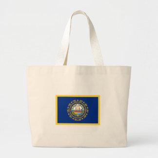 New Hampshire Flag Large Tote Bag