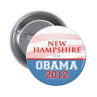 NEW HAMPSHIRE for Obama 2012 6 Cm Round Badge