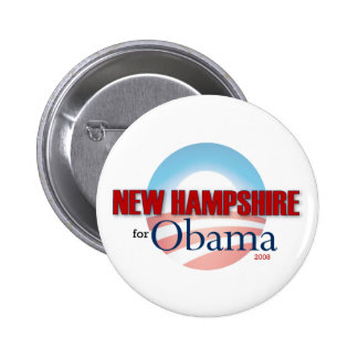 NEW HAMPSHIRE for Obama 6 Cm Round Badge