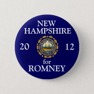 New Hampshire for Romney 2012 6 Cm Round Badge