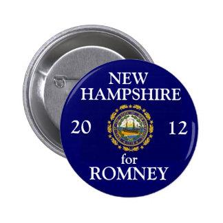 New Hampshire for Romney 2012 6 Cm Round Badge