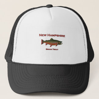 New Hampshire Freshwater Fishing - Brook Trout Trucker Hat