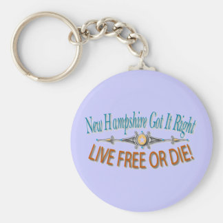 New Hampshire Got it Right Basic Round Button Key Ring