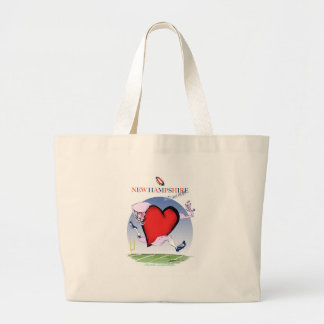 new hampshire head heart, tony fernandes large tote bag