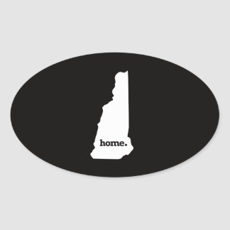 New Hampshire Home Oval Sticker