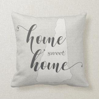 New Hampshire - Home Sweet Home burlap-look Cushion