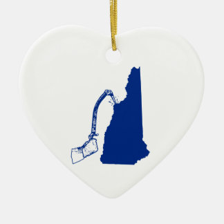 New Hampshire Ice Climbing Ceramic Ornament