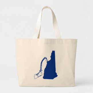 New Hampshire Ice Climbing Large Tote Bag