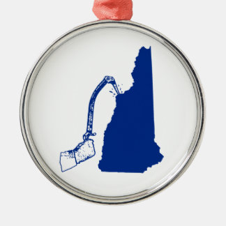 New Hampshire Ice Climbing Metal Ornament