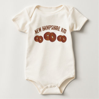 New Hampshire Kid NH Apple Cider Donuts Doughnuts Baby Bodysuit