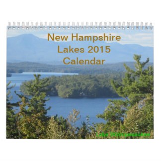 New Hampshire Lakes 2015 Calendar