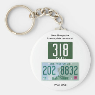 New Hampshire license plate centennial Key Ring